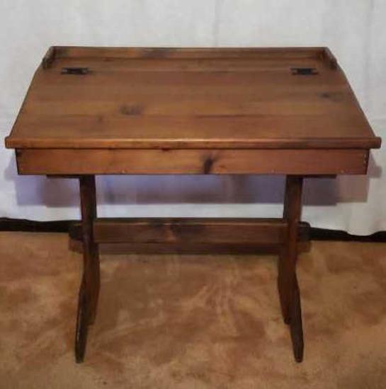 Antique Slant Front Desk with Lift Top--