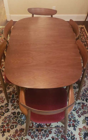 Mid Century Danish Modern Dining Table w/6 Chairs
