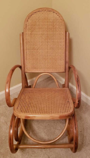 Bentwood Rocker w/Cain Back and Seat