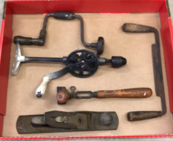 Assorted Antique Tools including Wood