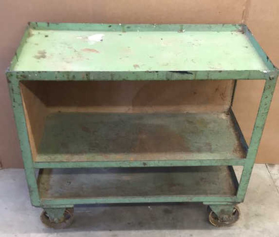 Heavy Duty Iron Rolling 3-Shelf Cart with Iron