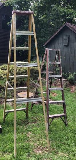 (2) Aluminum Ladders 8 Ft. & 6 Ft
