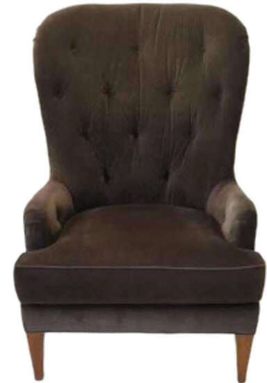 "Custom Upholstered Chair, 33"" Wide x 41"" Deep,"