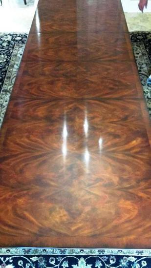 Rectangular Double Pedestal Mahogany Dining