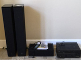 Definitive Speakers and Yamaha Sound System with Subwoofer and
