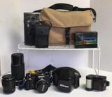 Nikon FA 35 mm SLA Camera with Case,