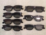 (7) Pairs of Real D 3-D Glasses