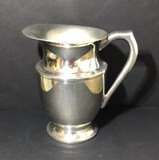 Footed Silver Plate Pitcher--8 1/8