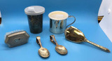 Assorted Silver Plate Baby Items:  Baby Cup