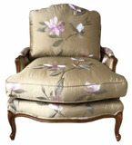Custom Upholstered Chair, Outside Width 33 1/2