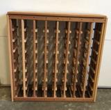 Wooden Wine Rack 36' x 11 1/2' x 36'