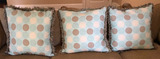 (3)Custom Made  Decorative Throw Pillows