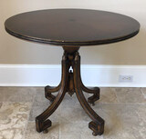 Round Occasional Table, Hand Rubbed Inlaid