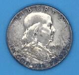 1951 U. S. Franklin Half Dollar