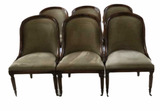 (6) Dining Chairs--Antique Brass Nail Heads--