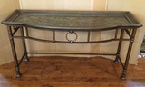 Collage Metal Console Table, Hand Wrought-Iron