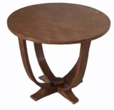 Round Mid-Century Modern End Table