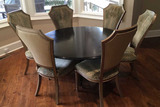 Expresso Round Dining Table & (6) Dining