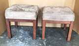 """(2) Uphosltered Ottomans - 19"""" Square x 19"""" H"""