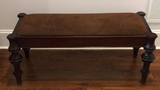 Wooden Bench with Upholstered Seat--45 1/2