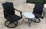 (2) Tropitone Outdoor Chairs, (1) Table