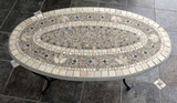 Oval Outdoor Coffee Table--41 1/2