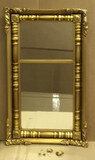 """Antique American Empire Mirror in Gold Frame 17 1/2"""" x 32 1/2"""""""