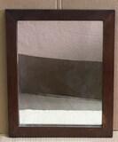 """Antique Mirror in Wooden Frame -14 1/2"""" x 17 1/2"""""""