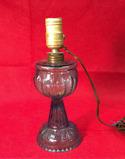 Antique Blue Glass Kerosene Lamp Converted to