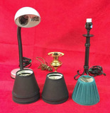 (3) Small Lamps and (5) Small Shades