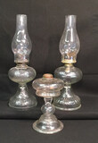 "Kerosene Lamps: (1) 18"" H to Top of Shade, (1)"