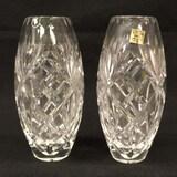 (2) Lead Crystal Vases, 7