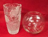 (2) Crystal Vases: Cut Lead Crystal Vase 10