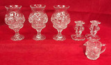 Assorted Cut Lead Crystal: (3) Candle Holders