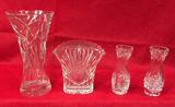 (4) Cut Lead Crystal Vases