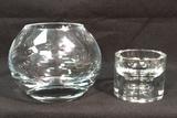 (2) Crystal Items:  Vase and Ashtray