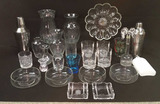 Assorted Glassware and Bar Items