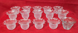 """(15) Glass Votive Candle Holders - (14) 3 1/4"""" H"""