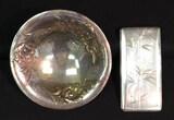 "(2) Silver Items: Oneida ""Gala"" 3-Footed"
