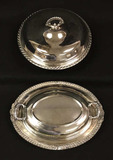 (2) Silver Plate Covered Vegetable Dishes: