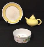 Vintage Gladding McBean Yellow Teapot,