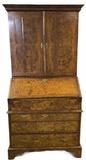 18th Century Burl Walnut Three Piece Secretary or