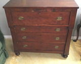 Antique American Empire Projection Front 4-Drawer