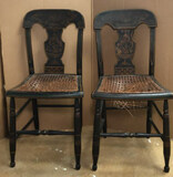 (2) Antique Hitchcock Chairs with Cane Seats