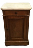 Marble Top Walnut Half Commode, One