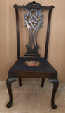 Antique Mahogany Side Chair with Cabriole