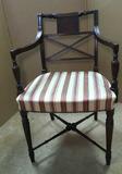 Mahogany Sheraton Open Arm  Chair