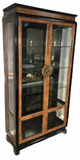 Asian- Style Beveled  Glass Front Lighted Display