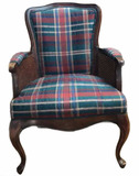 Wooden & Upholstered Chair with Cabriole