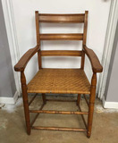 Vintage Wooden Tennis Umpire Chair with Rush